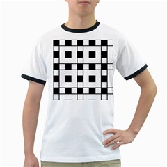Black And White Pattern Ringer T Shirts