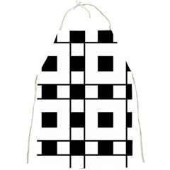 Black And White Pattern Full Print Aprons by Amaryn4rt