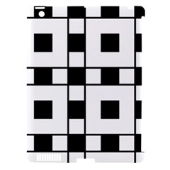 Black And White Pattern Apple Ipad 3/4 Hardshell Case (compatible With Smart Cover) by Amaryn4rt