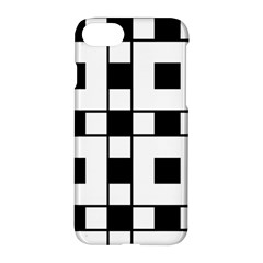 Black And White Pattern Apple Iphone 7 Hardshell Case