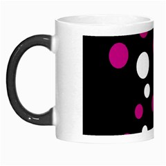 Pink And White Dots Morph Mugs by Valentinaart