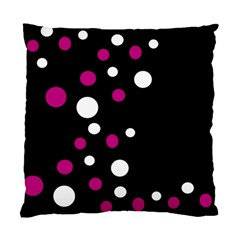 Pink And White Dots Standard Cushion Case (one Side) by Valentinaart