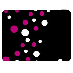 Pink And White Dots Samsung Galaxy Tab 7  P1000 Flip Case by Valentinaart