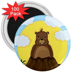 Groundhog Day  3  Magnets (100 Pack) by Valentinaart