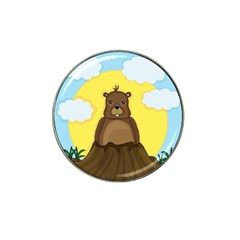 Groundhog Day  Hat Clip Ball Marker (10 Pack) by Valentinaart