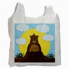 Groundhog Day  Recycle Bag (one Side) by Valentinaart