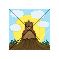 Groundhog Day  Acrylic Tangram Puzzle (4  X 4 ) by Valentinaart