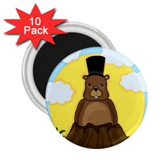 Groundhog 2 25  Magnets (10 Pack)  by Valentinaart