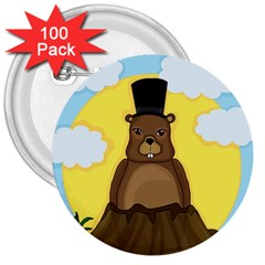 Groundhog 3  Buttons (100 Pack)  by Valentinaart