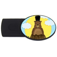 Groundhog Usb Flash Drive Oval (4 Gb)  by Valentinaart