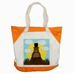 Groundhog Accent Tote Bag by Valentinaart