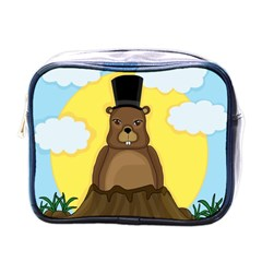 Groundhog Mini Toiletries Bags by Valentinaart