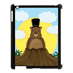 Groundhog Apple Ipad 3/4 Case (black) by Valentinaart