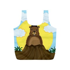 Groundhog Full Print Recycle Bags (s)  by Valentinaart