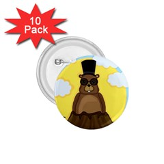Happy Groundhog Day 1 75  Buttons (10 Pack) by Valentinaart