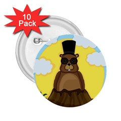 Happy Groundhog Day 2 25  Buttons (10 Pack)  by Valentinaart