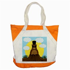 Happy Groundhog Day Accent Tote Bag by Valentinaart