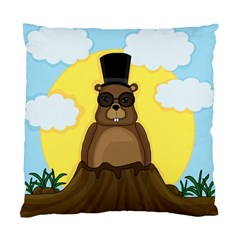 Happy Groundhog Day Standard Cushion Case (one Side)