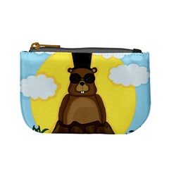 Happy Groundhog Day Mini Coin Purses