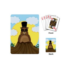 Happy Groundhog Day Playing Cards (mini)  by Valentinaart