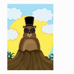Happy Groundhog Day Small Garden Flag (two Sides)