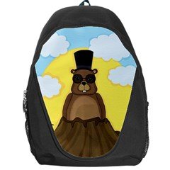 Happy Groundhog Day Backpack Bag by Valentinaart