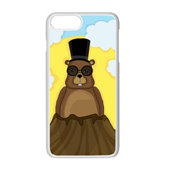 Happy Groundhog Day Apple Iphone 7 Plus White Seamless Case by Valentinaart