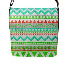 Cute Bohemian  Flap Messenger Bag (l)  by Brittlevirginclothing