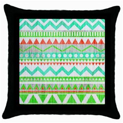 Cute Bohemian  Throw Pillow Case (black) by Brittlevirginclothing