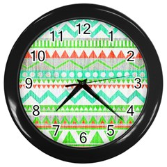 Cute Bohemian  Wall Clocks (black) by Brittlevirginclothing