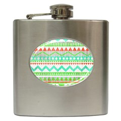 Cute Bohemian  Hip Flask (6 Oz) by Brittlevirginclothing