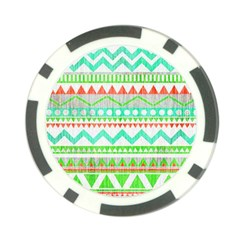 Cute Bohemian  Poker Chip Card Guards (10 Pack)  by Brittlevirginclothing