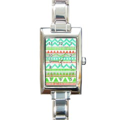 Cute Bohemian Rectangle Italian Charm Watch by Brittlevirginclothing