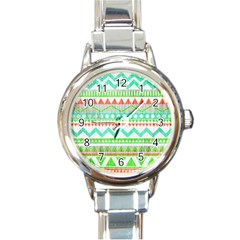 Cute Bohemian Round Italian Charm Watch by Brittlevirginclothing