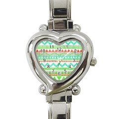 Cute Bohemian Heart Italian Charm Watch by Brittlevirginclothing