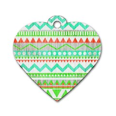 Cute Bohemian Dog Tag Heart (one Side) by Brittlevirginclothing