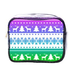 Cute Rainbow Bohemian Mini Toiletries Bags by Brittlevirginclothing