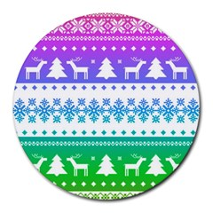 Cute Rainbow Bohemian Round Mousepads by Brittlevirginclothing