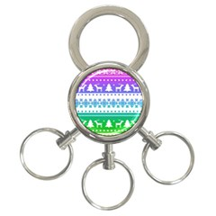 Cute Rainbow Bohemian 3 Ring Key Chains by Brittlevirginclothing