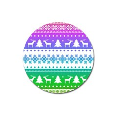 Cute Rainbow Bohemian Magnet 3  (round) by Brittlevirginclothing