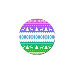 Cute Rainbow Bohemian Golf Ball Marker (4 Pack) by Brittlevirginclothing