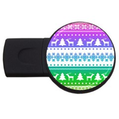 Cute Rainbow Bohemian Usb Flash Drive Round (2 Gb)  by Brittlevirginclothing