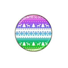 Cute Rainbow Bohemian Hat Clip Ball Marker by Brittlevirginclothing