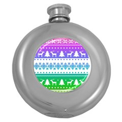 Cute Rainbow Bohemian Round Hip Flask (5 Oz) by Brittlevirginclothing