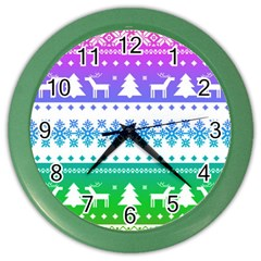 Cute Rainbow Bohemian Color Wall Clocks by Brittlevirginclothing