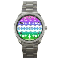 Cute Rainbow Bohemian Sport Metal Watch by Brittlevirginclothing