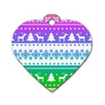Cute rainbow bohemian Dog Tag Heart (One Side) Front