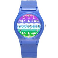 Cute Rainbow Bohemian Round Plastic Sport Watch (s) by Brittlevirginclothing