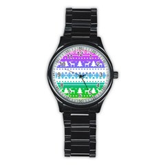 Cute Rainbow Bohemian Stainless Steel Round Watch by Brittlevirginclothing