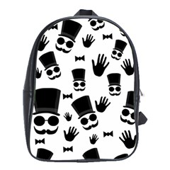 Gentlemen   Black And White School Bags (xl)  by Valentinaart